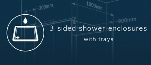 3 Sided Walk In Shower Enclosures All 1