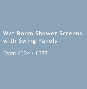 Wet Room Shower Screens with Swing Panels