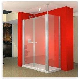 UniLine 1500 x 800 Shower Enclosure & RH Tray Package